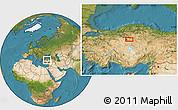 Satellite Location Map of Ankara