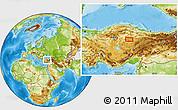 Physical Location Map of Yozgat