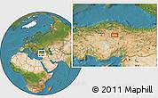 Satellite Location Map of Yozgat