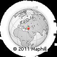 Outline Map of Yozgat, rectangular outline