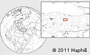 Blank Location Map of Sivas