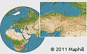 Satellite Location Map of Sivas