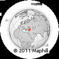 Outline Map of Sivas, rectangular outline
