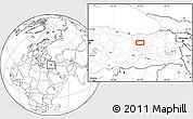 Blank Location Map of Erzincan