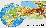 Physical Location Map of Erzincan