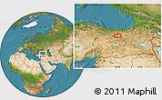 Satellite Location Map of Erzincan