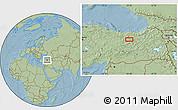 Savanna Style Location Map of Erzincan, hill shading