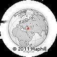 Outline Map of Erzincan, rectangular outline