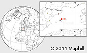 """Blank Location Map of the area around 39°57'6""""N,3°28'30""""E"""