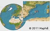 Satellite Location Map of Ca'n Picafort