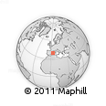 """Outline Map of the Area around 39° 57' 6"""" N, 3° 28' 30"""" E, rectangular outline"""