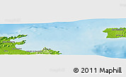 """Physical Panoramic Map of the area around 39°57'6""""N,3°28'30""""E"""