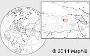 Blank Location Map of Erzurum