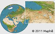 Satellite Location Map of Erzurum