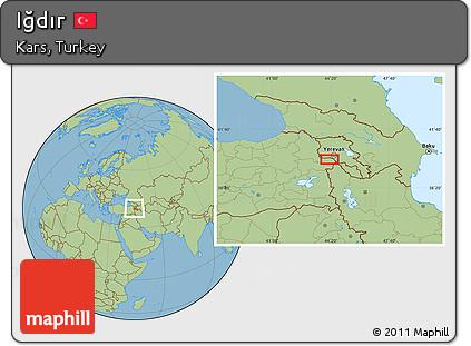 Free Savanna Style Location Map of Idr