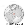 Outline Map of Agjabedi, rectangular outline