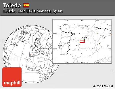 Blank Location Map of Toledo