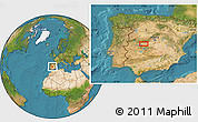 """Satellite Location Map of the area around 39°57'6""""N,5°1'30""""W"""