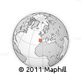 """Outline Map of the Area around 39° 57' 6"""" N, 5° 1' 30"""" W, rectangular outline"""