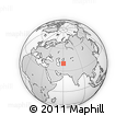 """Outline Map of the Area around 39° 57' 6"""" N, 60° 25' 29"""" E, rectangular outline"""