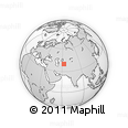 """Outline Map of the Area around 39° 57' 6"""" N, 62° 58' 30"""" E, rectangular outline"""