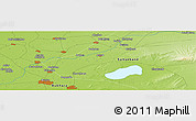"""Physical Panoramic Map of the area around 39°57'6""""N,64°40'30""""E"""
