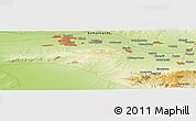 Physical Panoramic Map of Ziyodin