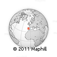 """Outline Map of the Area around 39° 57' 6"""" N, 6° 43' 29"""" W, rectangular outline"""