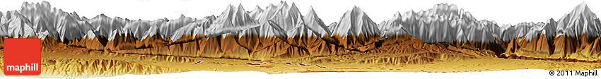 Physical Horizon Map of Isfara