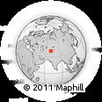 Outline Map of Isfara, rectangular outline