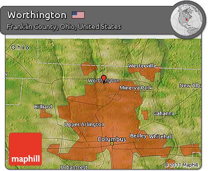 Free Satellite 3d Map Of Worthington
