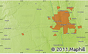 """Physical Map of the area around 39°57'6""""N,83°13'29""""W"""