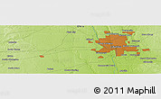 """Physical Panoramic Map of the area around 39°57'6""""N,83°13'29""""W"""
