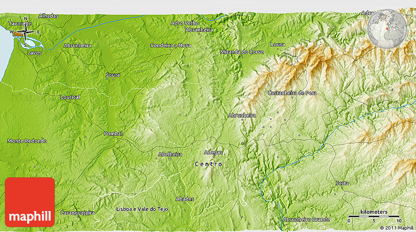 Physical 3D Map of Leiria