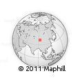 """Outline Map of the Area around 39° 57' 6"""" N, 93° 34' 29"""" E, rectangular outline"""