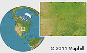 """Satellite Location Map of the area around 39°57'6""""N,94°16'30""""W"""