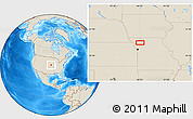 """Shaded Relief Location Map of the area around 39°57'6""""N,94°16'30""""W"""