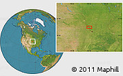 Satellite Location Map of Wathena