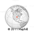 """Outline Map of the Area around 39° 57' 6"""" N, 95° 7' 30"""" W, rectangular outline"""