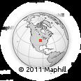 Outline Map of Wathena, rectangular outline