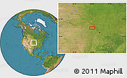 """Satellite Location Map of the area around 39°57'6""""N,95°58'29""""W"""