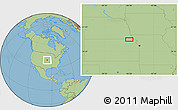 """Savanna Style Location Map of the area around 39°57'6""""N,95°58'29""""W"""