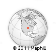 """Outline Map of the Area around 39° 57' 6"""" N, 95° 58' 29"""" W, rectangular outline"""