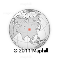 """Outline Map of the Area around 39° 57' 6"""" N, 96° 7' 30"""" E, rectangular outline"""