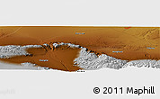 Physical Panoramic Map of Hongliuxia