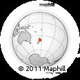 Outline Map of Karioi, rectangular outline