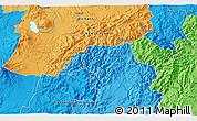 Political 3D Map of Turangi