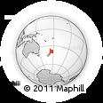 Outline Map of Turangi, rectangular outline