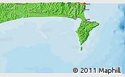 Political 3D Map of Wairoa