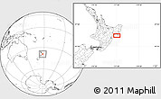Blank Location Map of Wairoa